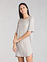 GAP Women Grey Pure Body Essentials T-Shirt Dress