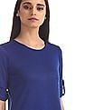 Cherokee Blue Colour Block Twofer Top
