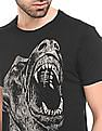 Ed Hardy Printed Regular Fit T-Shirt