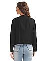 Bronz Embroidered Overlay Open Front Shrug