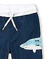 The Children's Place Baby And Toddler Boy Blue Shark Graphic Swim Trunks