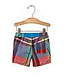 GAP Baby Multi Colour Plaid Pull On Shorts