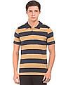 Roots by Ruggers Striped Regular Fit Polo Shirt