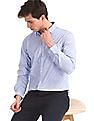 Excalibur Blue Long Sleeve Striped Shirt