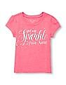 The Children's Place Baby Girl Glitter Print T-Shirt