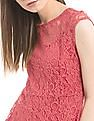 SUGR Pink Lace Peplum Top