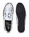 Flying Machine Patterned Slip On Shoes