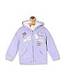 The Children's Place Baby And Toddler Girls Long Sleeve Glitter Graphic Full-Zip Faux Sherpa Hoodie