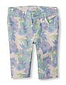 The Children's Place Girls Multi Colour Floral Print Skimmer Shorts