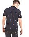U.S. Polo Assn. Slim Fit Star Print Polo Shirt
