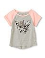 The Children's Place Baby Grey Raglan Sleeve Colour Block Top