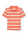 The Children's Place Boys Short Sleeve Striped Polo Shirt