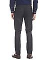 Arrow Newyork Tapered Fit Patterned Weave Trousers
