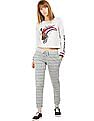 Flying Machine Women Printed Regular Fit Joggers