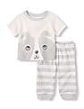 The Children's Place Baby Puppy Knit Set