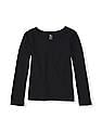 The Children's Place Girls Black Long Sleeve Layering Tee