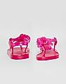GAP Toddler Girl Pink Flower Jelly Sandals