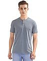 Cherokee Slim Fit Heathered Henley T-Shirt