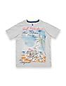 U.S. Polo Assn. Kids Boys Printed Regular Fit T-Shirt