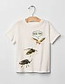 GAP Baby White Graphic Crew Tee