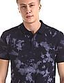 Roots by Ruggers Blue Dyed Short Sleeve Polo Shirt