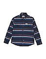 U.S. Polo Assn. Kids Boys Button Down Striped Shirt