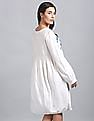 GAP Embroidered Yoke Exaggerated Sleeves Empire Waist Dress