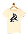 The Children's Place Yellow Girls Flippy Sequin High Low Graphic Top