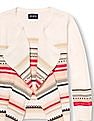 The Children's Place Girls Long Sleeve Striped Open-Front Sweater Cardigan