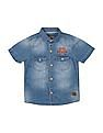Cherokee Boys Stone Wash Short Sleeve Shirt