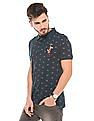 Ed Hardy Printed Regular Fit Polo Shirt