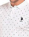 U.S. Polo Assn. Diamond Print Slim Fit Polo Shirt