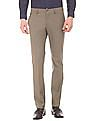 Arrow Newyork Solid Slim Fit Trousers